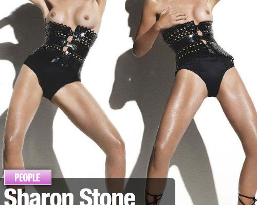 Sharon Stone tombe le haut dans Paris Match !