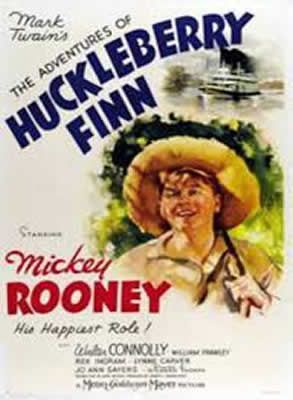 Les Aventures d'Huckleberry Finn de Richard Thorpe avec Mickey Rooney - Walter Connolly - Rex Ingram - William Frawley - Eddie Hodges - Lynne Carver