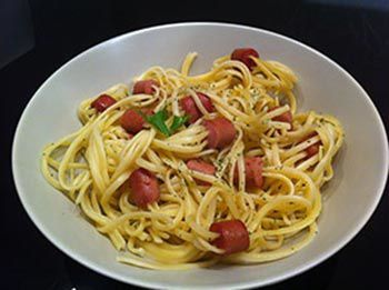 Spaghettis saucisses