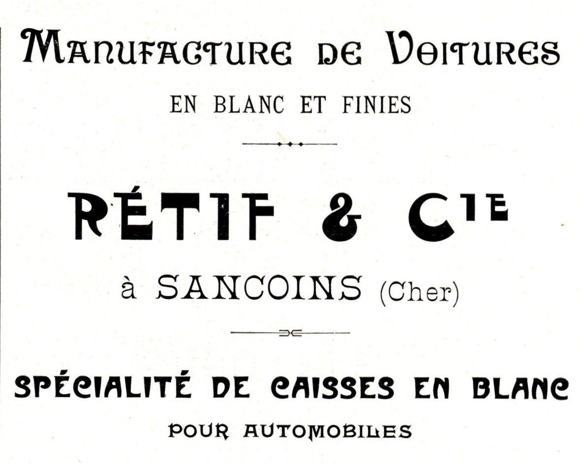 – Publicité extraite du Guide du Carrossier, 1907