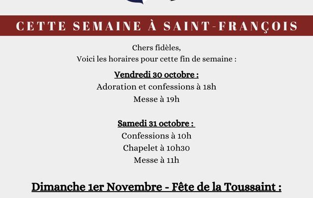 Cette semaine à Saint François