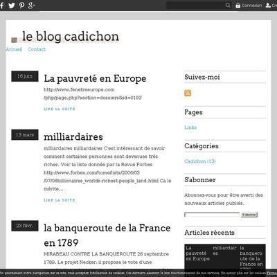 le blog cadichon