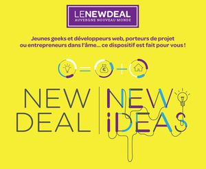 Les 7 lauréats du NEW DEAL NEW IDEAS de l'Auvergne