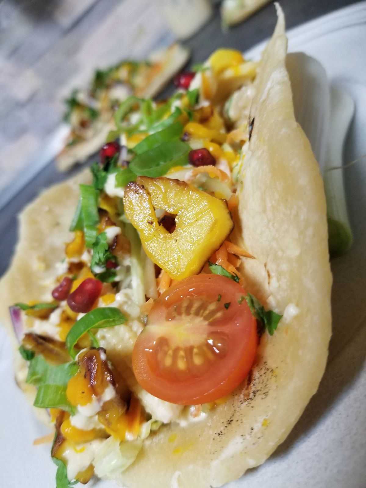 Tacos Végan aux fruits du Jaquier