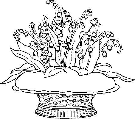 Coloriage :  corbeille de muguet