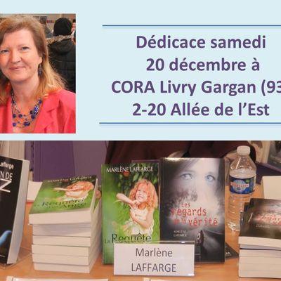 Dédicace à CORA Livry Gargan (93)