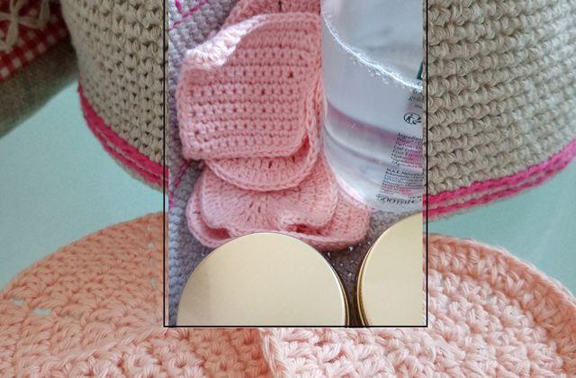 Diagrammes pour lingettes démaquillantes (make-up remover ou make-up scrubbies)