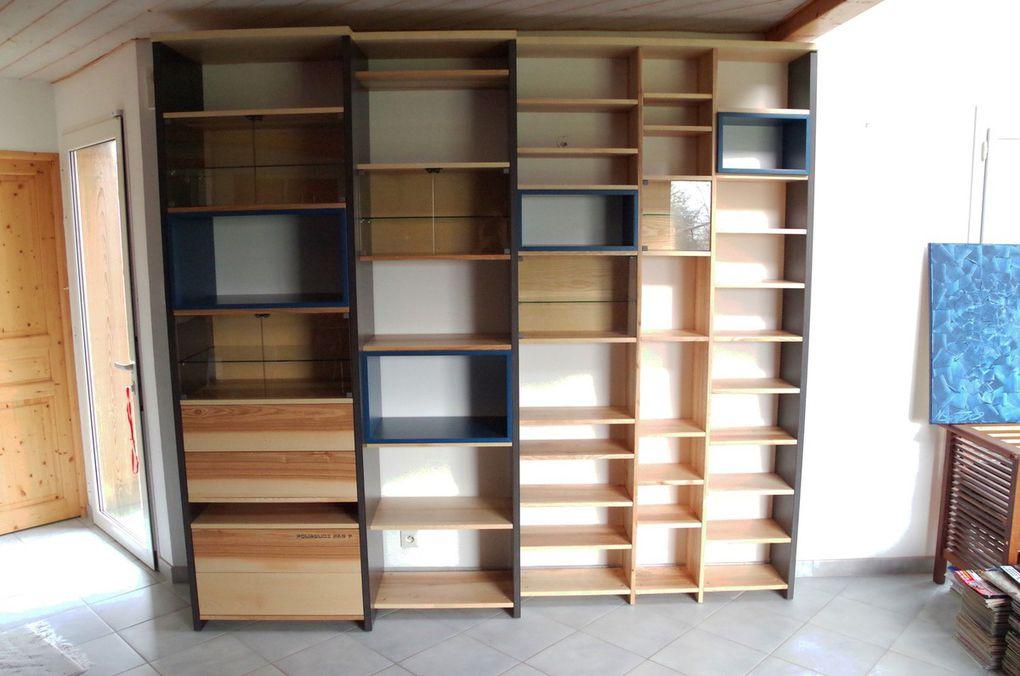 Bibliothèque contemporaine Frêne Valchromat