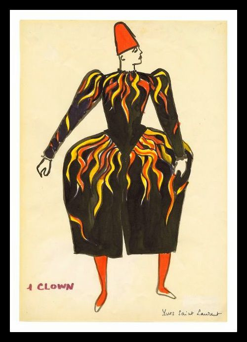 Yves Saint Laurent dessine le Cirque