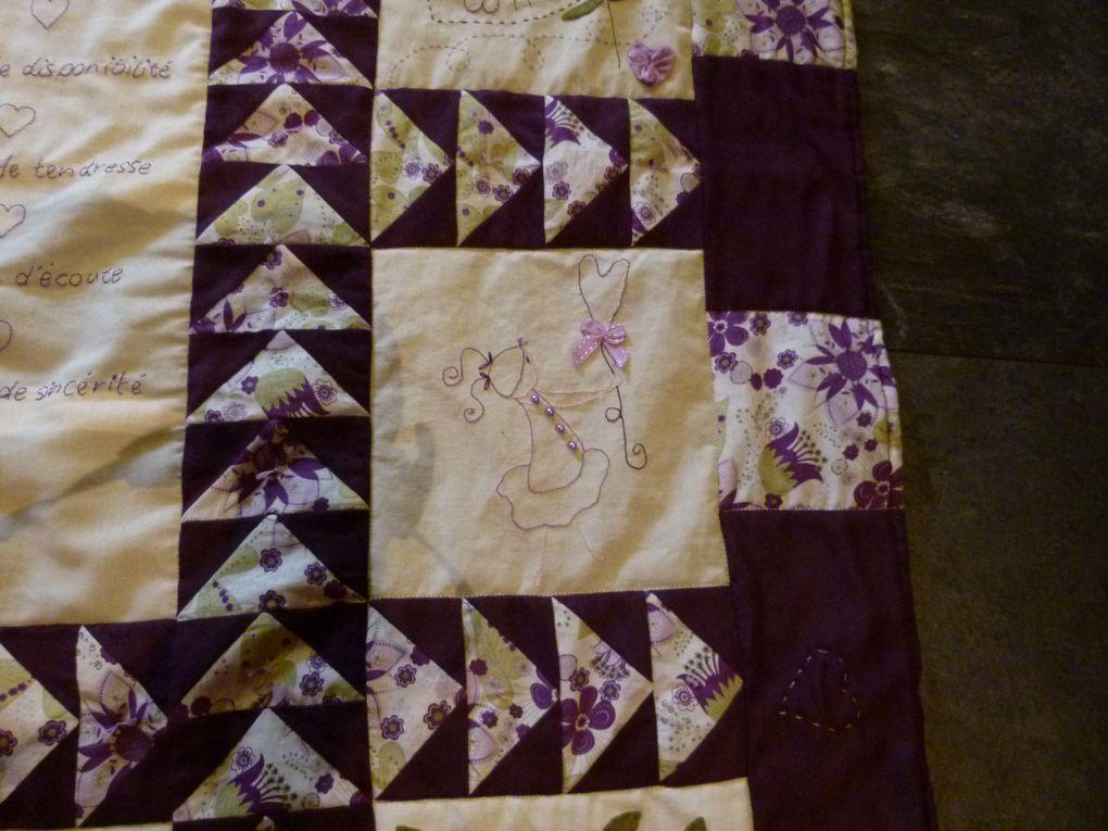 ouvrages de patchwork et couture