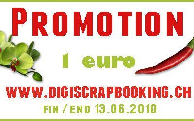 Promotion 1 euro !