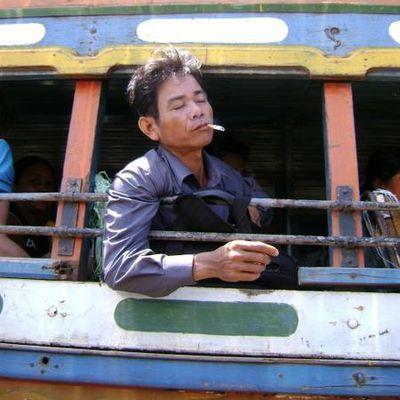En remontant le Mekong.