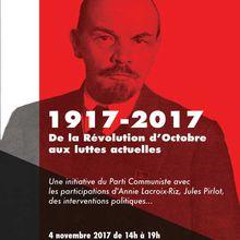 De la Révolution d'Octobre aux luttes actuelles, 4 novembre à Liège (Belgique)