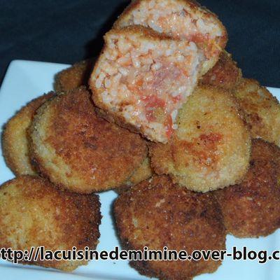 Cromesquis à la tomate, boulettes de viande hachée