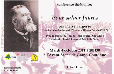 Conférence théâtralisée : pour saluer Jaurès