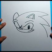 Como dibujar a Sonic paso a paso - Sonic   How to draw Sonic - Sonic