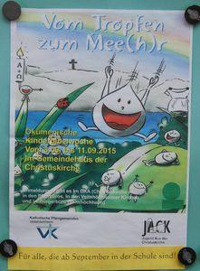 """""""Vom Tropfen zum Mee(h)r .... """" - Ökumenische Kinderbibelwoche im Rahmen des Veitshöchheimer Ferienprogramms - 25 Kids machten mit"""