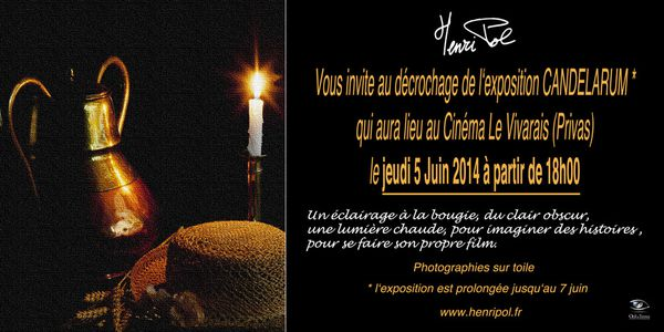 vernissage décrochage le 5 juin à Privas