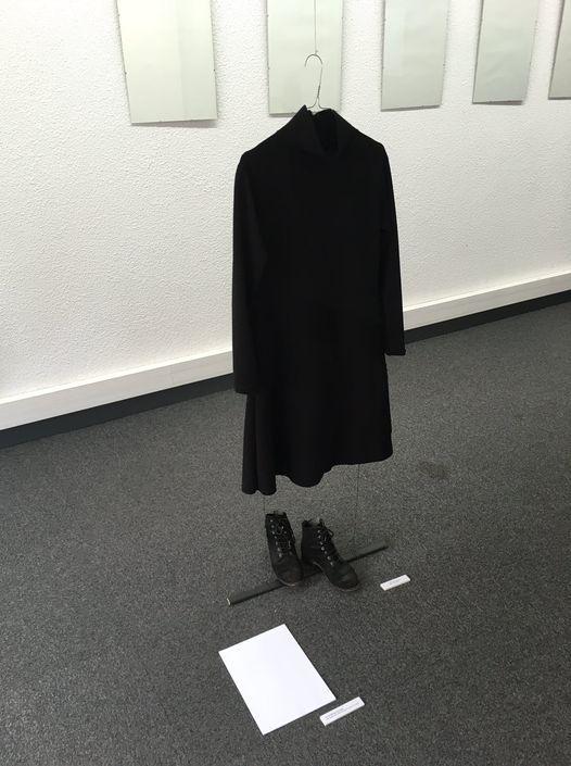 """fantôme d'exposition avec Frédérique Soumagne à L'app'Art. Oeuvres de Mireille Vitry à la Galerie 66, """"Dessine moi un livre"""""""
