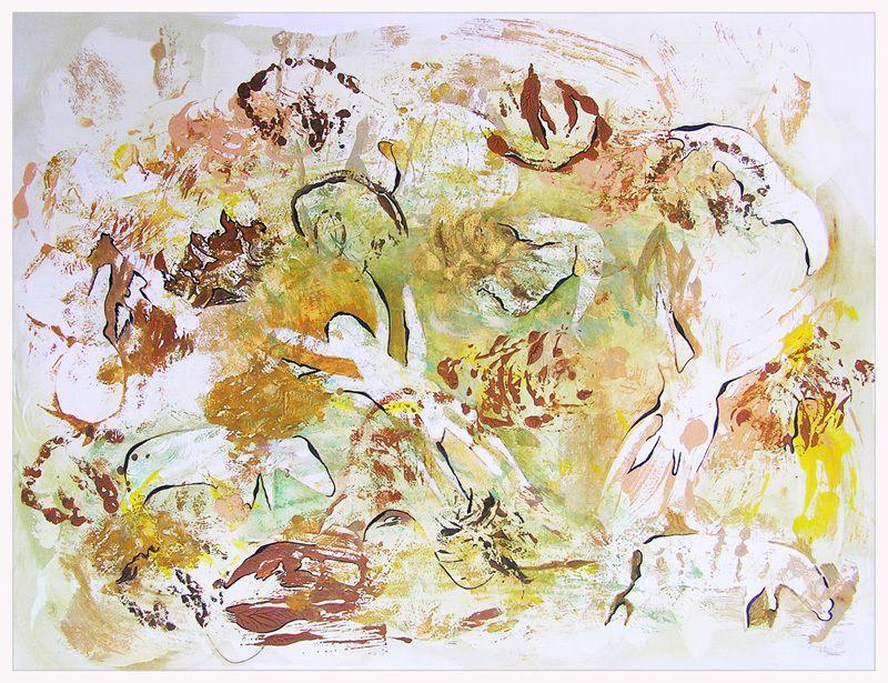 2 peintures d'Elisabeth Menir