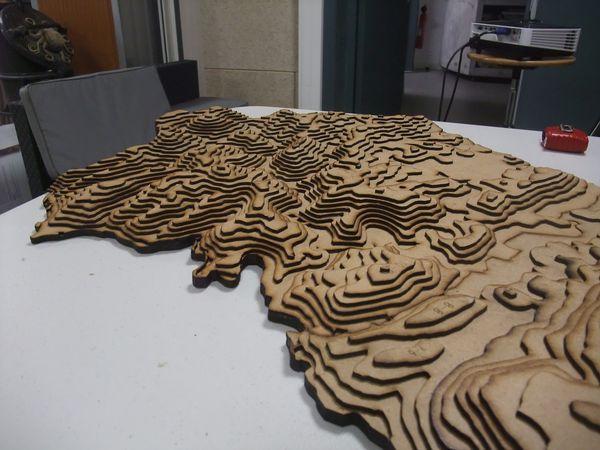 Vue de la moitié de maquette déjà réalisée