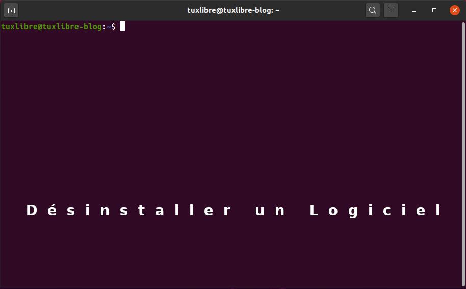 #Les commandes Terminal : Supprimer un logiciel