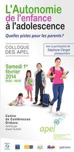 Colloque APEL à Orléans 1er février 2014