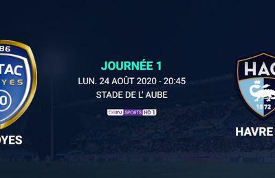 Troyes / Le Havre (Ligue 2) en direct ce lundi sur beIN SPORTS 1 !