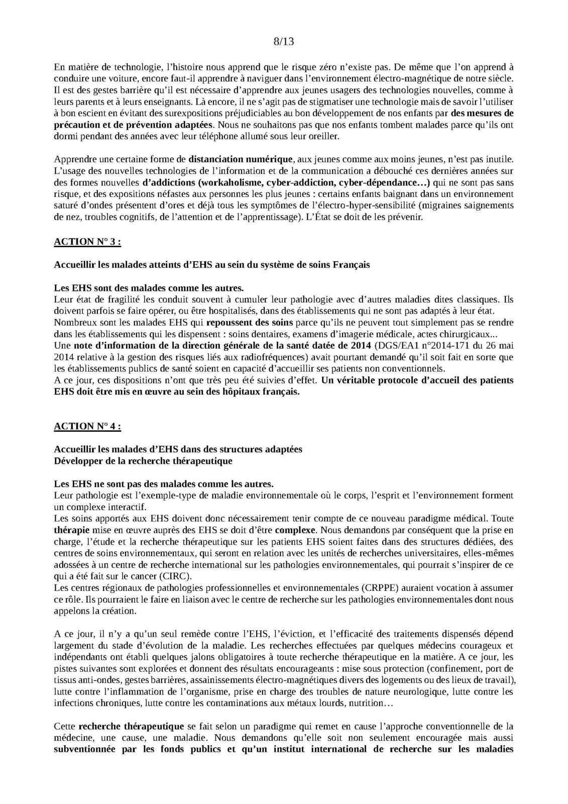 Le P.A.P.E, Plan national d'Assistance aux Personnes Electro-hyper-sensibles