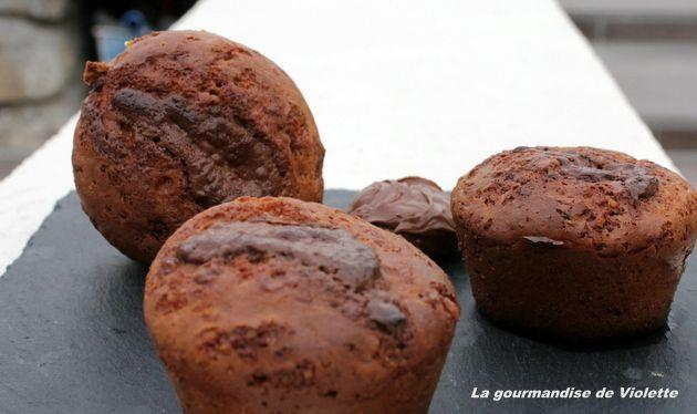 Muffins à la pâte à tartiner sans huile de palme