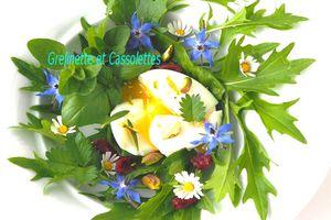 Salade de Fleurs et Oeufs mollets, Astuce de cuisson