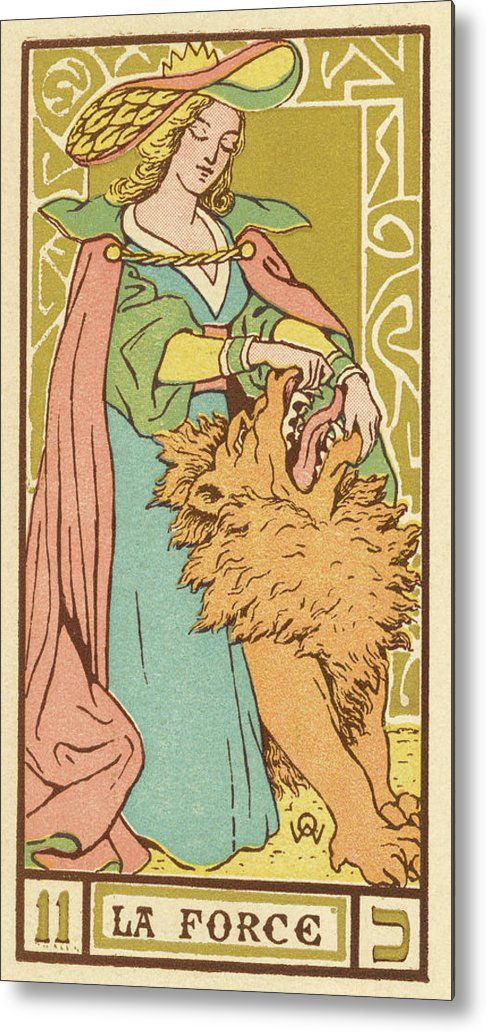 Tarot-card-11-la-force-strength-mary-evans-picture-library