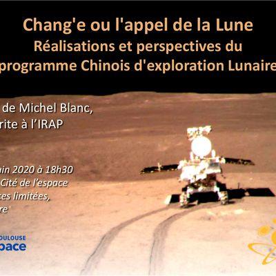 Chang'e ou l'appel de la Lune: une «vraie» conférence de Michel Blanc à la Cité de l'espace