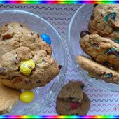 Cookies aux m&m's - Oh, la gourmande..