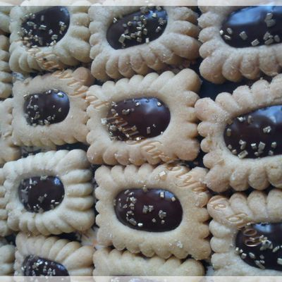 sablés fourrés chocolat