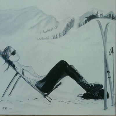 Simone à la montagne !