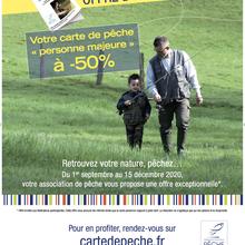 LA FÉDÉRATION NATIONALE DE LA PÊCHE EN FRANCE COMMERCIALISE LA CARTE PERSONNE MAJEURE « OFFRE D'AUTOMNE » 2020, À PARTIR DU MARDI 1ER SEPTEMBRE 2020