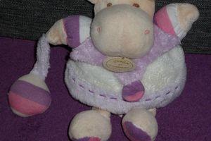 Doudou hippopotame violet Léo Doudou et Compagnie