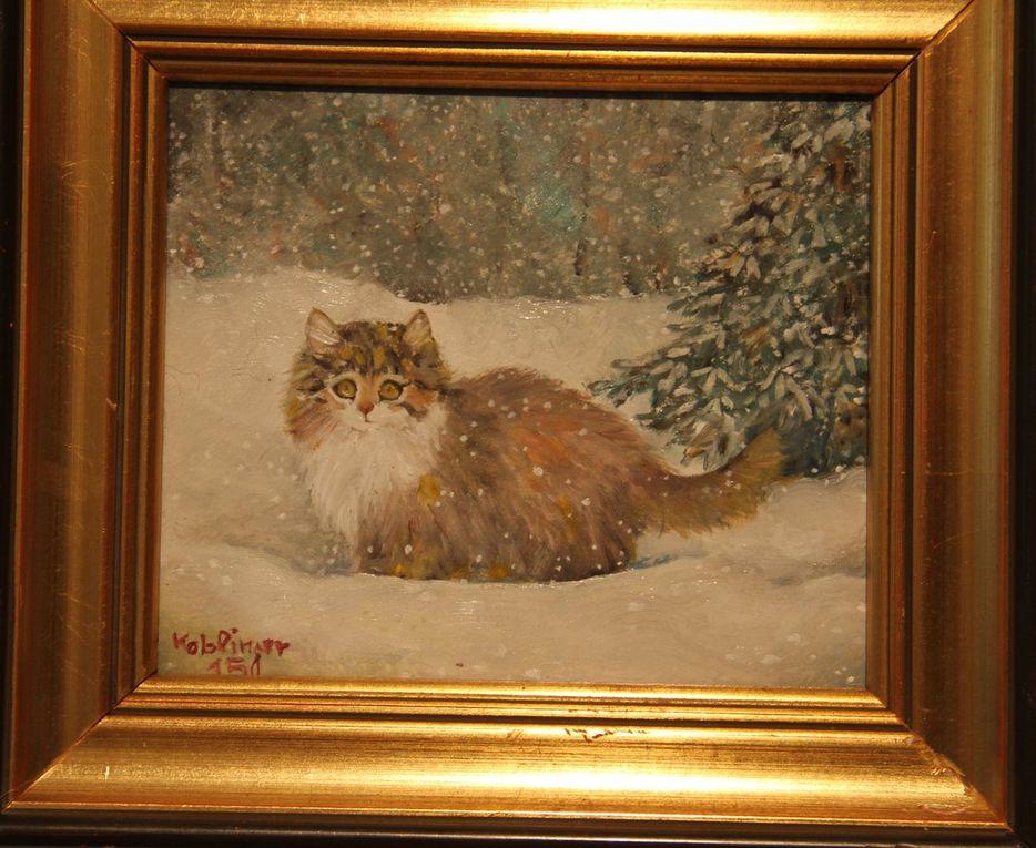 Viele ihrer Werke zieren Katzenmotive, mit denen sich die Österreicherin einen Namen gemacht hat. Sie zählt zu den bekanntesten Katzenmalerinnen Europas.