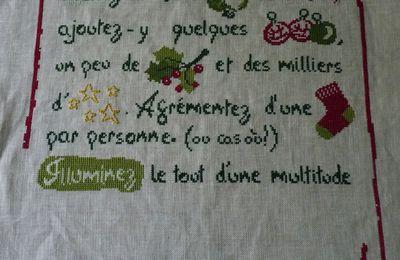 SAL Recette de Noël de LILIPOINTS : objectif 9