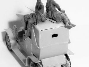 """Renault type AG """"Taxi de la Marne"""" (ICM - 1/35 et Heller 1/24)"""
