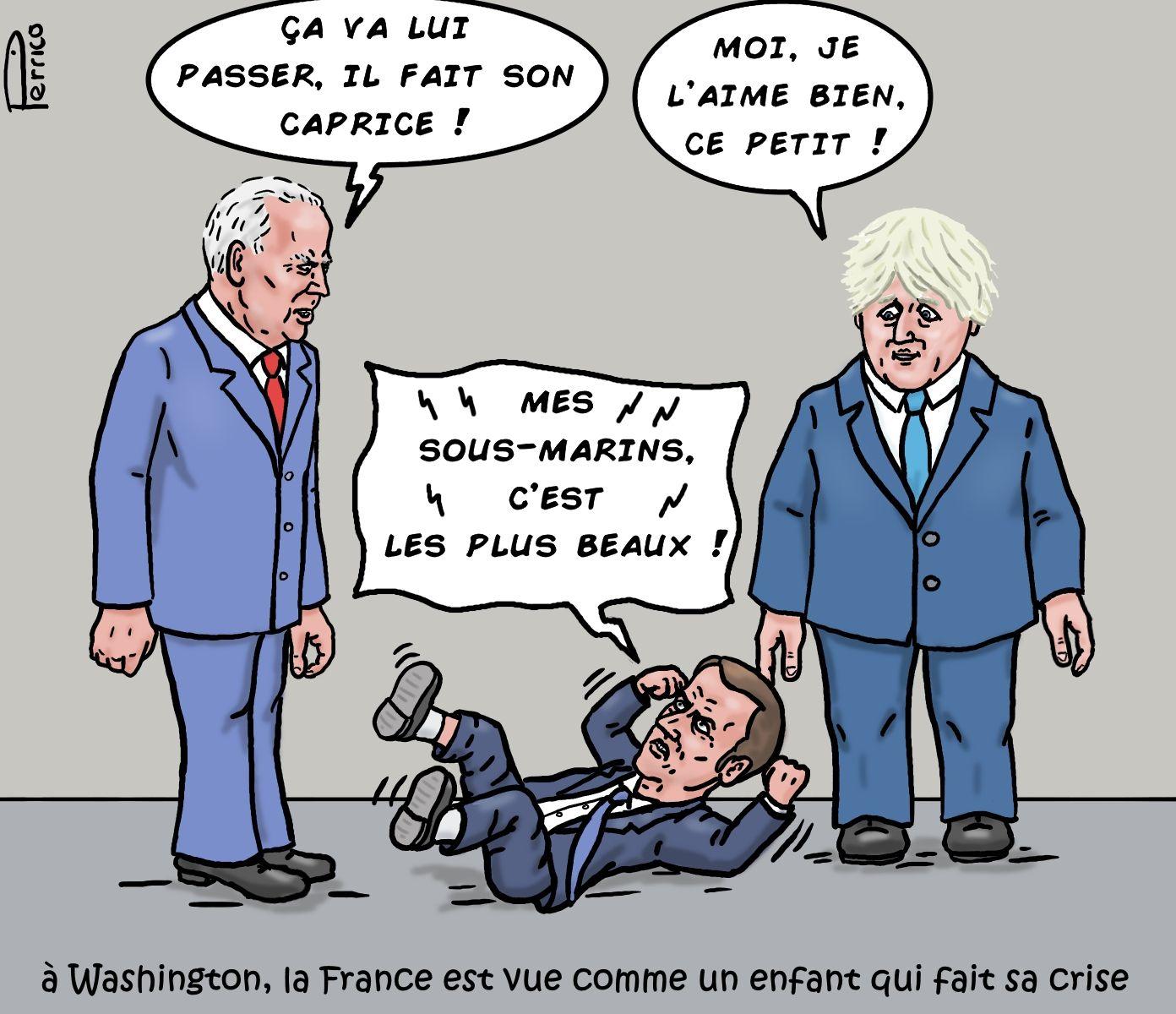 Joe Biden, Emmanuel Macron, Boris Johnson