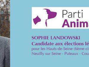 """pour défendre les animaux votez le 11 juin  pour le candidat du """" parti animaliste"""" de votre circonscription"""