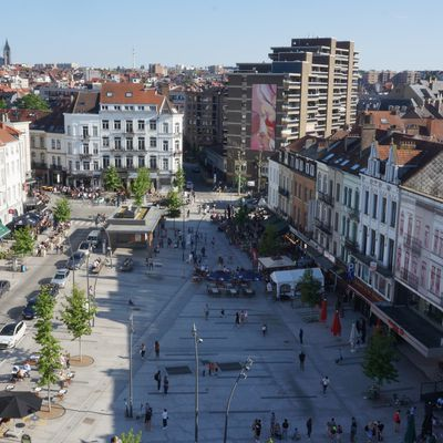 Guillaume Bottazzi's painting at Jourdan's square in Brussels