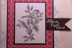Carte Oiseau gravure