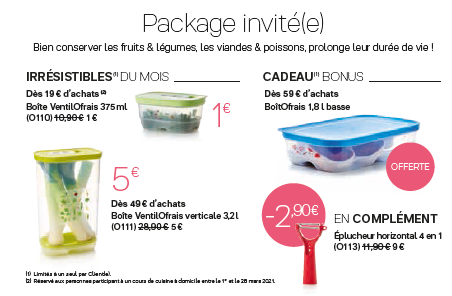 Package invité(e) de mars