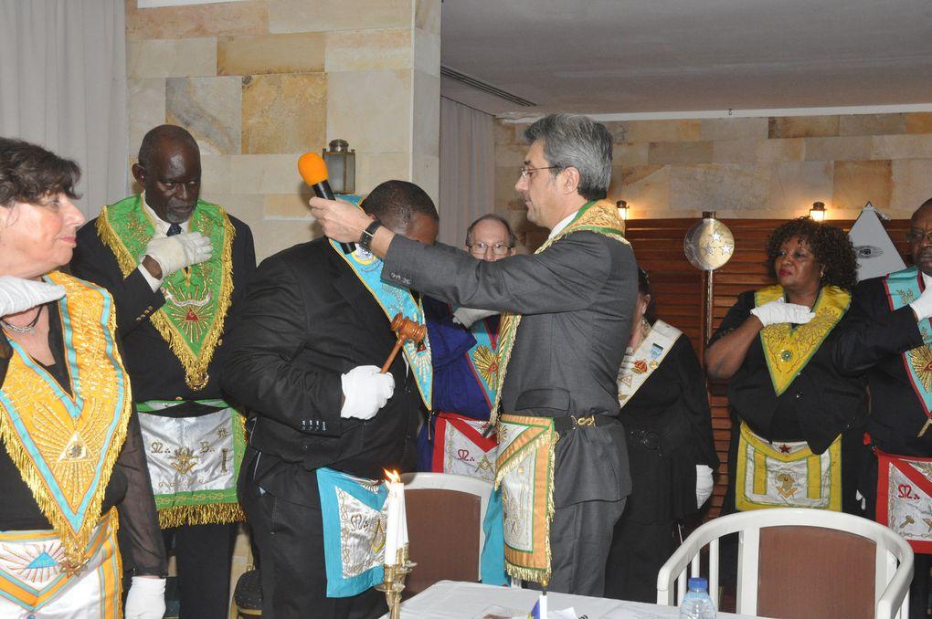 Cérémonie d'Allumage des Feux en présence de Grands-Maîtres et dignitaires des obédiences présentes aux REHFRAM