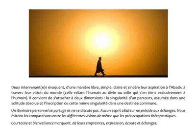 SERIC 2019 - 8 novembre 2019 - 75006 PARIS - « Itinéraires spirituels inter-convictionnels ».