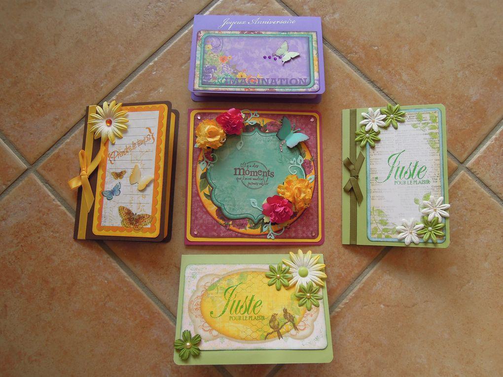 Cartes modulables, bien qu'elles le soient toutes, pour toutes les occasions : départ en retraite, petite pensée, remerciement, et autre selon le souhait.