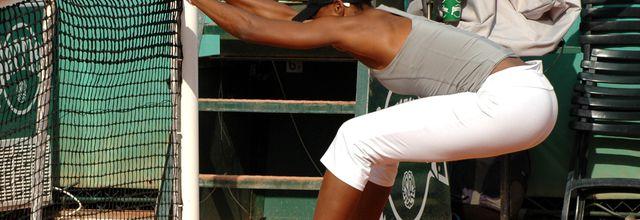 Etirements avec Venus Williams